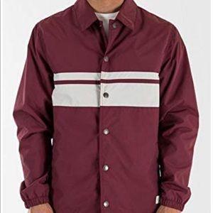 NWT Katin burgundy koleman coach jacket XL